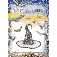 Witch Hat Happy Halloween Card