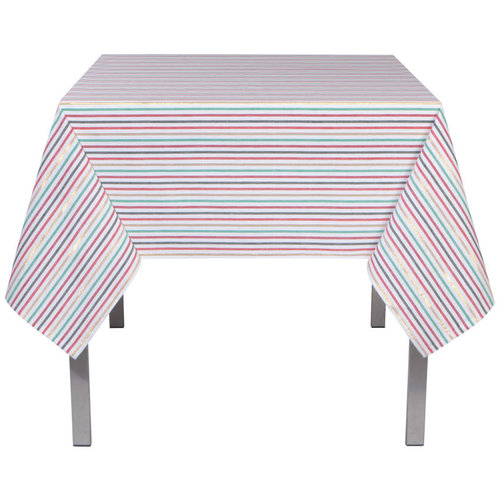 Now Designs Rectangular North Pole Stripe Tablecloth Long
