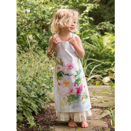 April Cornell Peony Watercolor Kids Apron