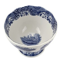 Blue Italian Footed Bowl