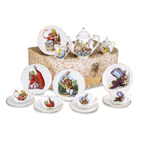 Alice in Wonderland Tea Set for 4