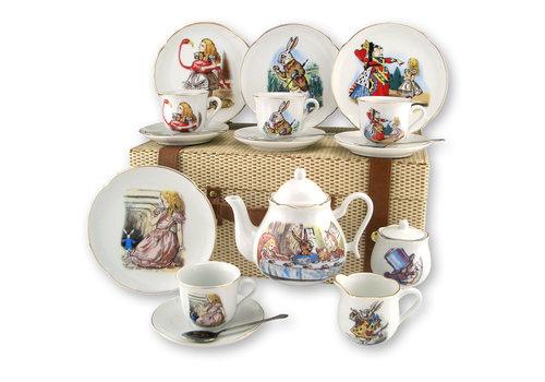 Reutter Porzellan Alice in Wonderland Tea Set for 4 - Picnic Basket