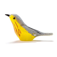 Yellow Warbler Glass Figurine