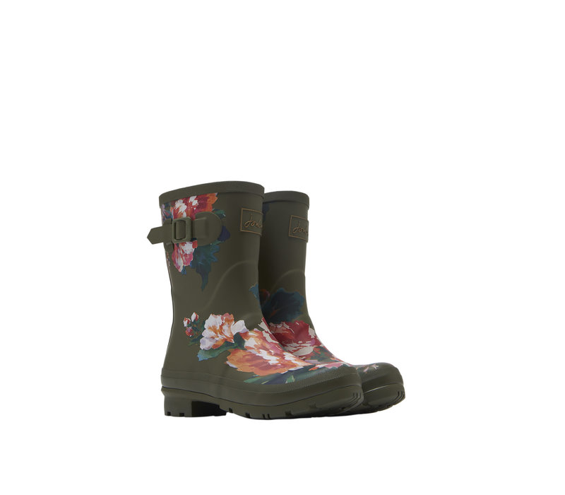 Green Molly Welly with Flowers