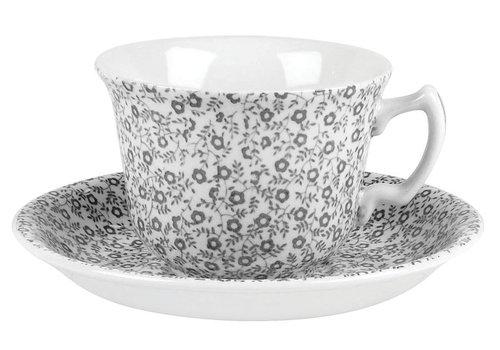 Burleigh Pottery Dove Grey Felicity Teacup & Saucer
