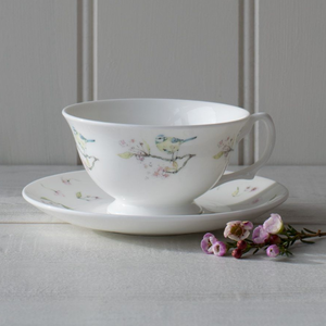 Mosney Mill Mosney Mill Blue Tit on Blossom China Tea Cup & Saucer
