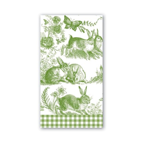 Michel Design Works Michel Bunny Toile Hostess Napkins