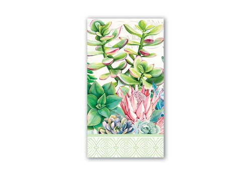 Michel Design Works Pink Cactus Hostess Napkins
