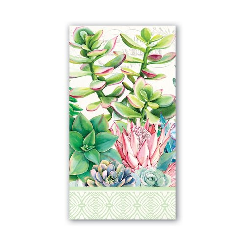 Michel Design Works Pink Cactus Hostess Napkins