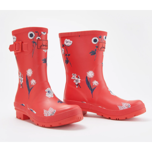 Joules USA Red Botanical Molly Welly