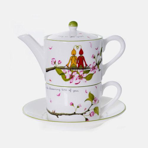 Emma Dunne Limited Emma Dunne Alice Tea For One Teacup Teapot & Saucer Wedding