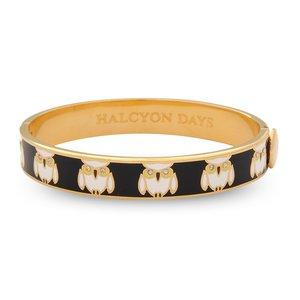 Halcyon Days Halcyon Days Owl Bangle- Black and Gold 1/4''