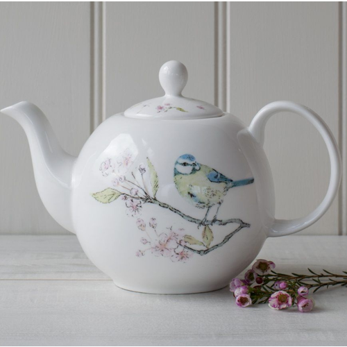 Mosney Mill Mosney Mill Blue TIt on Blossom 6 Cup Teapot