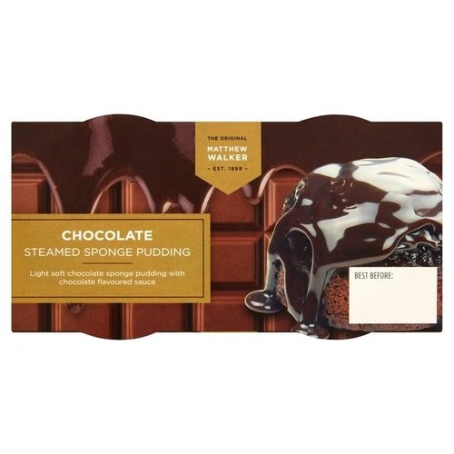 Matthew Walker Steamed Chocolate Sponge Pudding 2 pack