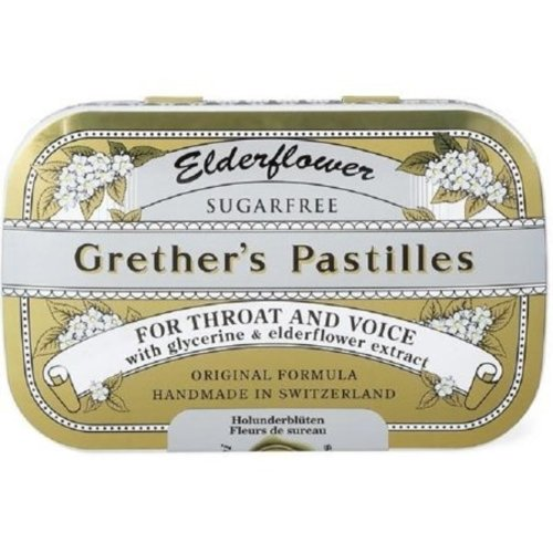 Grethers Sugarfree Elderflower Pastilles