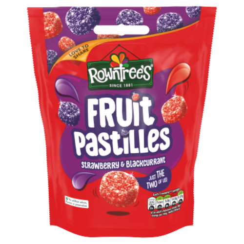 Rowntree's Rowntrees Fruit Pastilles Strawberry & Blackcurrant