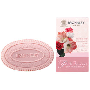 Bronnley Pink bouquet triple milled soap