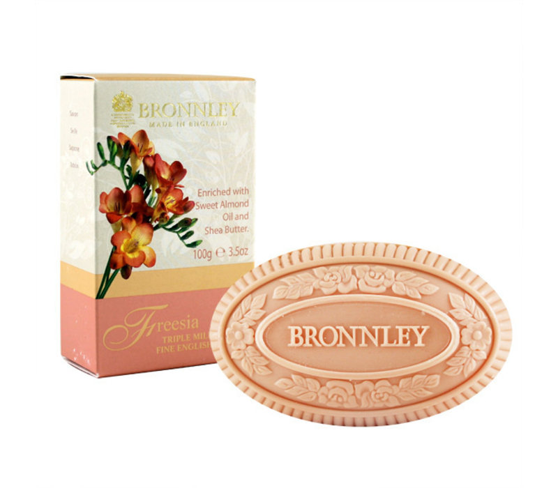 Bronnley Freesia triple milled soap 100g bar