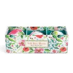 Michel Design Works Wild Berry Blossom Bath Bomb Set