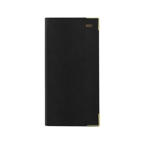 Letts of London Classic Slim Week-To-View Upright 2021 Diary with Planner Black