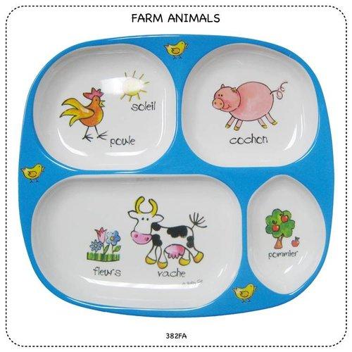 Baby Cie Farm Animals TV Tray Melamine