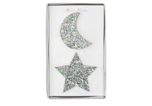 Meri Meri Large Star and Moon Hair Clips