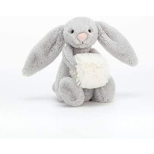 Jellycat Basful Grey Snow Bunny Small