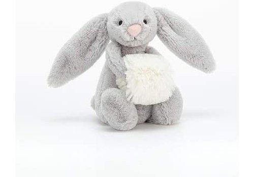 Jellycat Basful Grey Snow Bunny Small