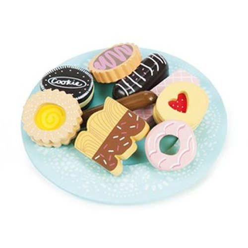 Le Toy Van Le Toy Van Wooden Biscuits & Plate Set