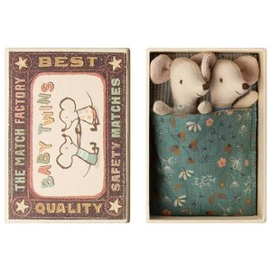 Maileg Maileg Baby Mice, Twins in a Box