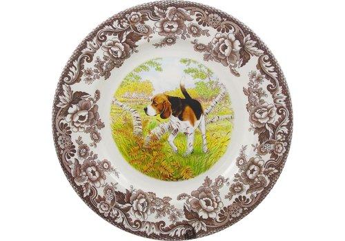 Spode Spode Woodland 20cm Salad Plate Beagle Dog