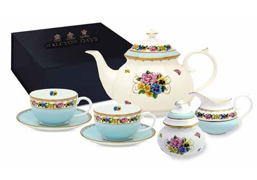 Halcyon Days Castle of Mey Shell Garden Tea for Two Boxed Set
