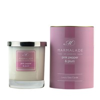 Pink Pepper and Plum Glass Candle