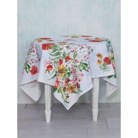 Zinnia Bouquet Tablecloth (54''x 54'')