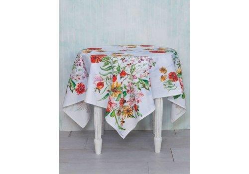 April Cornell Zinnia Bouquet Tablecloth (54''x 54'')