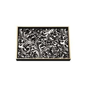 Michel Design Works Black Florentine Wooden Vanity Tray