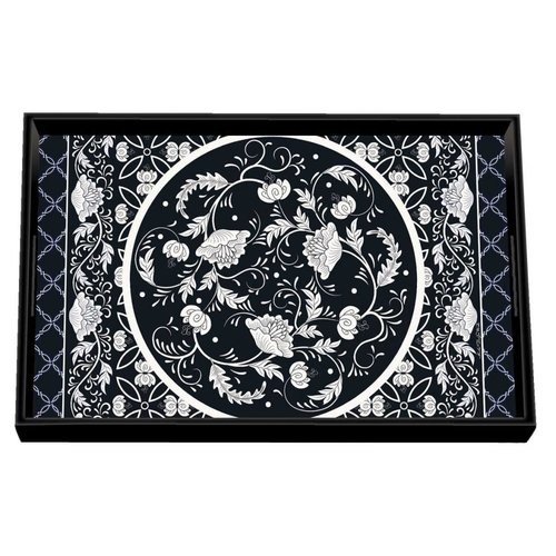 Michel Design Works Michel Bouquet Vanity Decoupage Wooden Tray