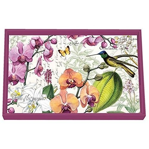 Michel Design Works Orchids in Bloom Vanity Decoupage Wooden Tray