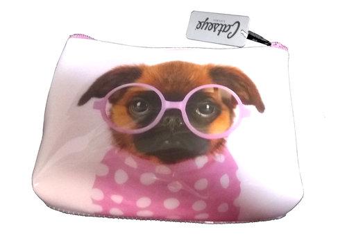 Catseye Pink Dog Cosmetics Case