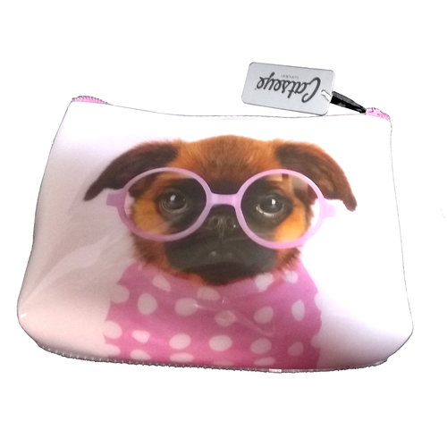 Catseye Pink Dog Cosmetics Case