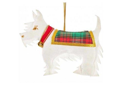 St. Nicolas St. Nicolas Scottie Dog White Ornament
