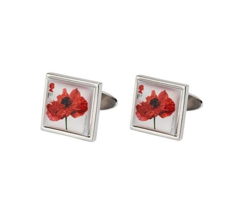 Imperial War Museum Poppy cufflinks