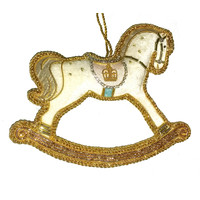 St. Nicolas Royal Baby 2019 Rocking Horse Ornament