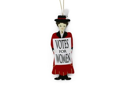 St. Nicolas St. Nicolas Votes for Women Red Suffragette Barbara Ornament