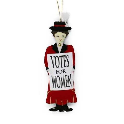 St. Nicolas St. Nicolas Votes for Women Red Suffragette Barbara Ornament
