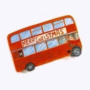 Merry Christmas London Bus Christmas Cards