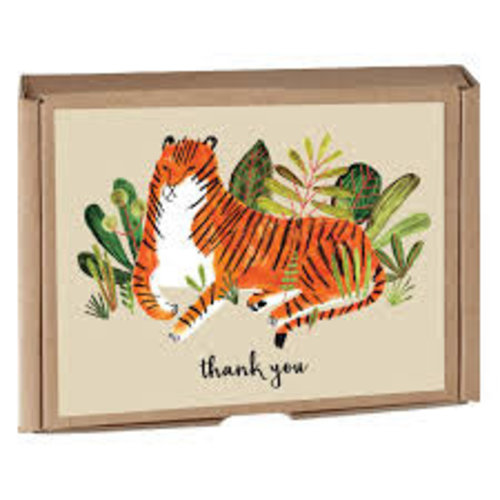 Big Cats Green Thank You Cards