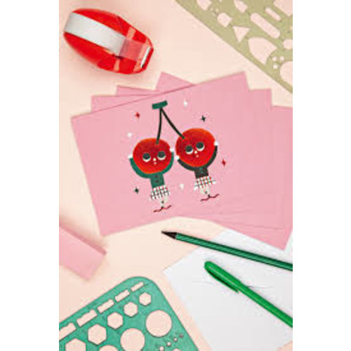 Cherry Dancers Big Notecards Set