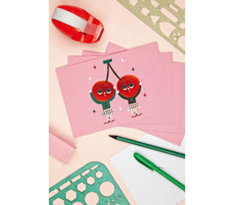 Cherry Dancers Big Notecards Set