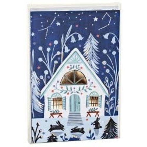 Cozy Winter Cabin Big Notecard Set